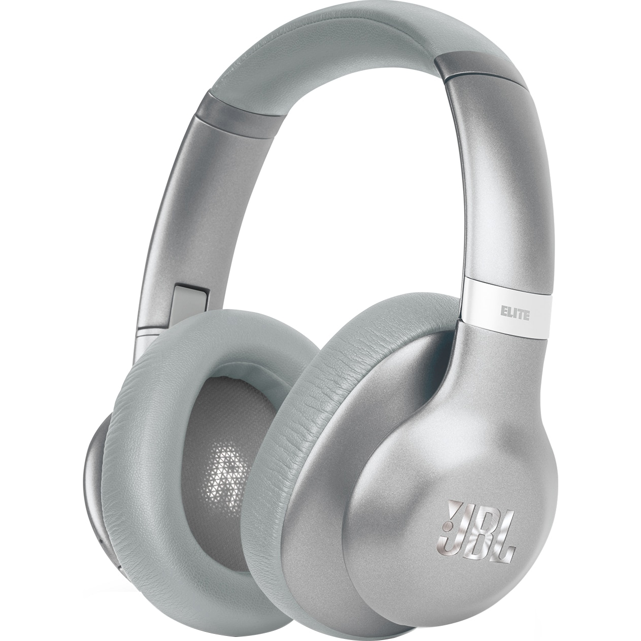 Fotografie Casti audio Over-ear JBL Everest 750, Adaptive Noise Cancelling, Pro Audio Sound, TruNote, Hands Free Call, 15h Playback cu ANC, argintiu