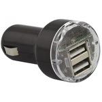 Esperanza autós 2x USB töltő, 2A, Fekete