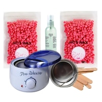 Kit Epilare No.77 cu Ceara Epilare Granule - Double Wax Star Pink 2x100g