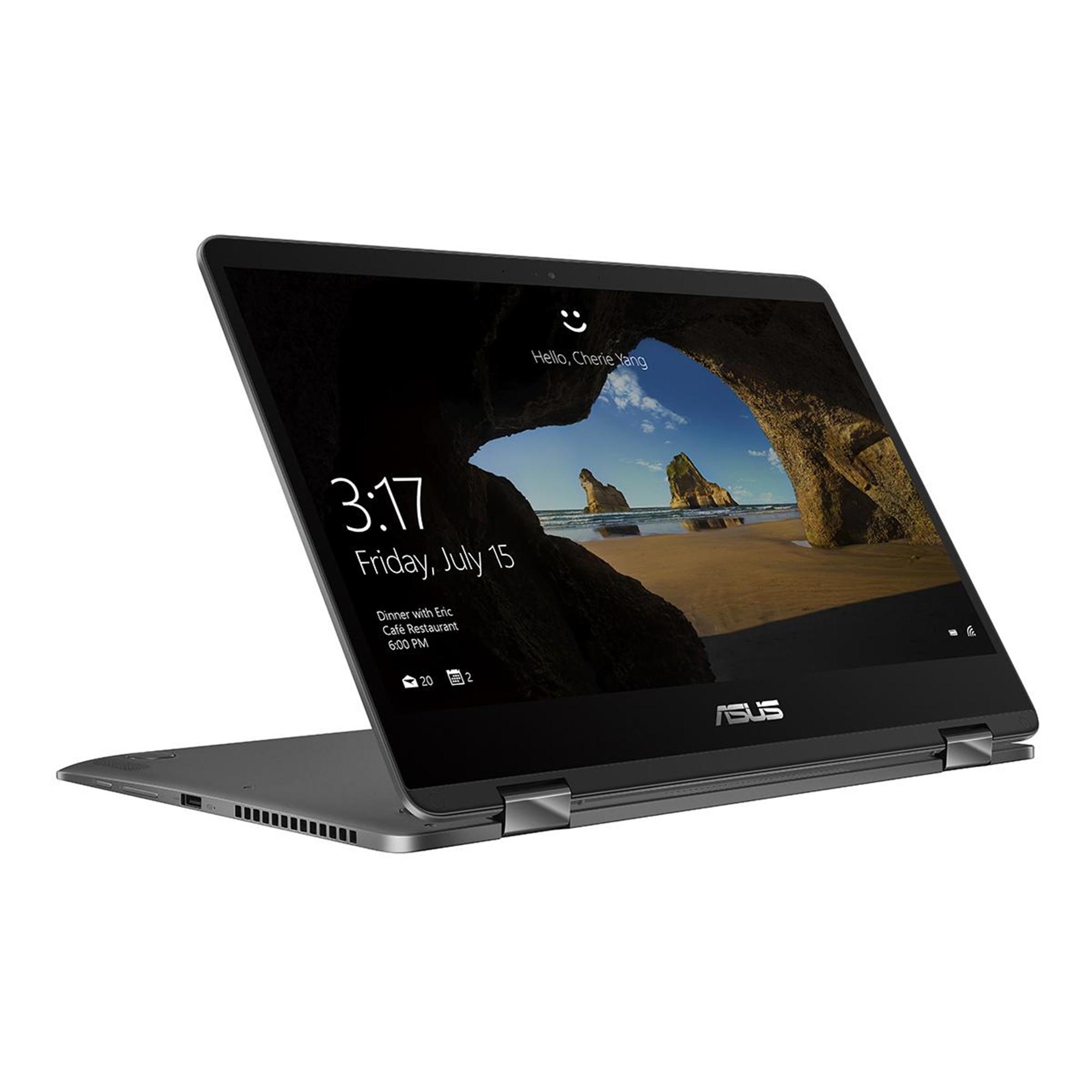 "Fotografie Laptop ultraportabil ASUS ZenBook UX461UN-E1006T cu procesor Intel® Core™ i5-8250U pana la 3.60 GHz, Kaby Lake R, 14"", Full HD, 8GB, 256GB M.2 SSD, nVIDIA® GeForce® MX150 2GB, Microsoft Windows 10, Gray"