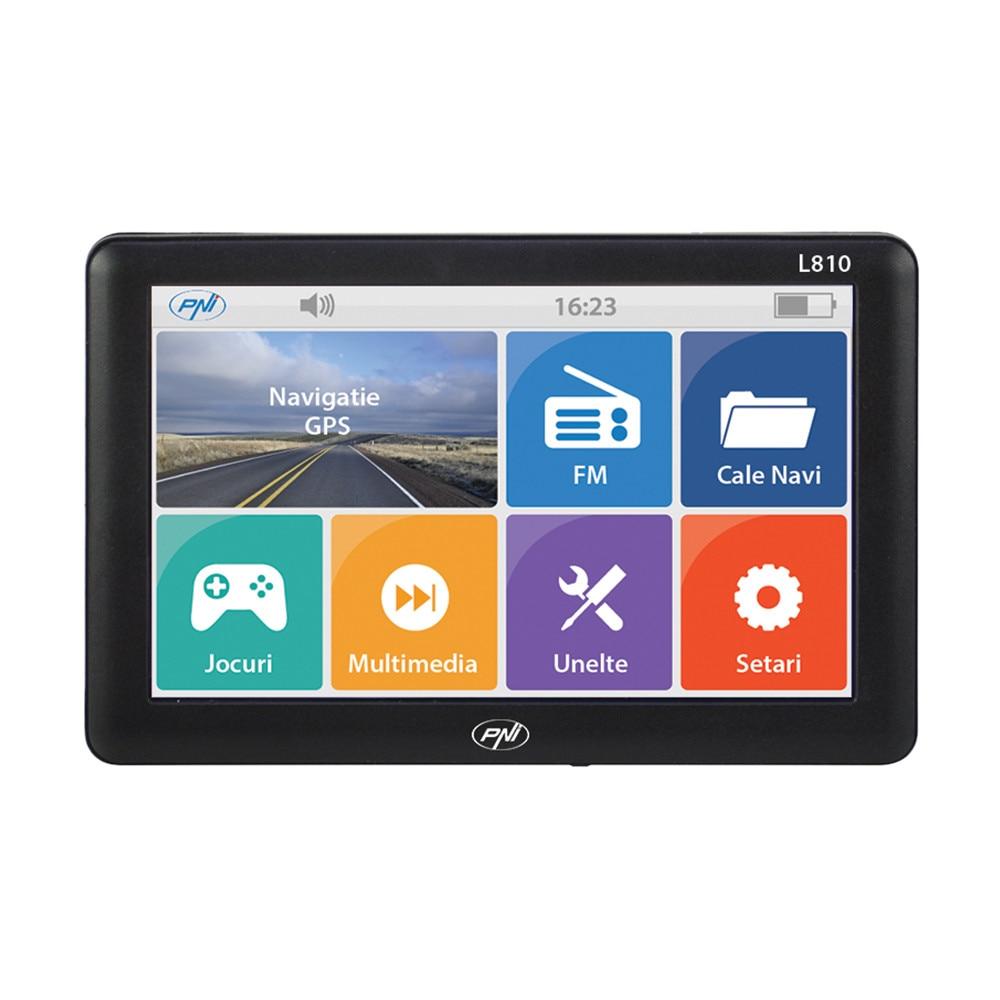 Fotografie Sistem de navigatie GPS PNI L810 ecran 7 inch, 800 MHz, 256M DDR, 8GB memorie interna, FM transmitter