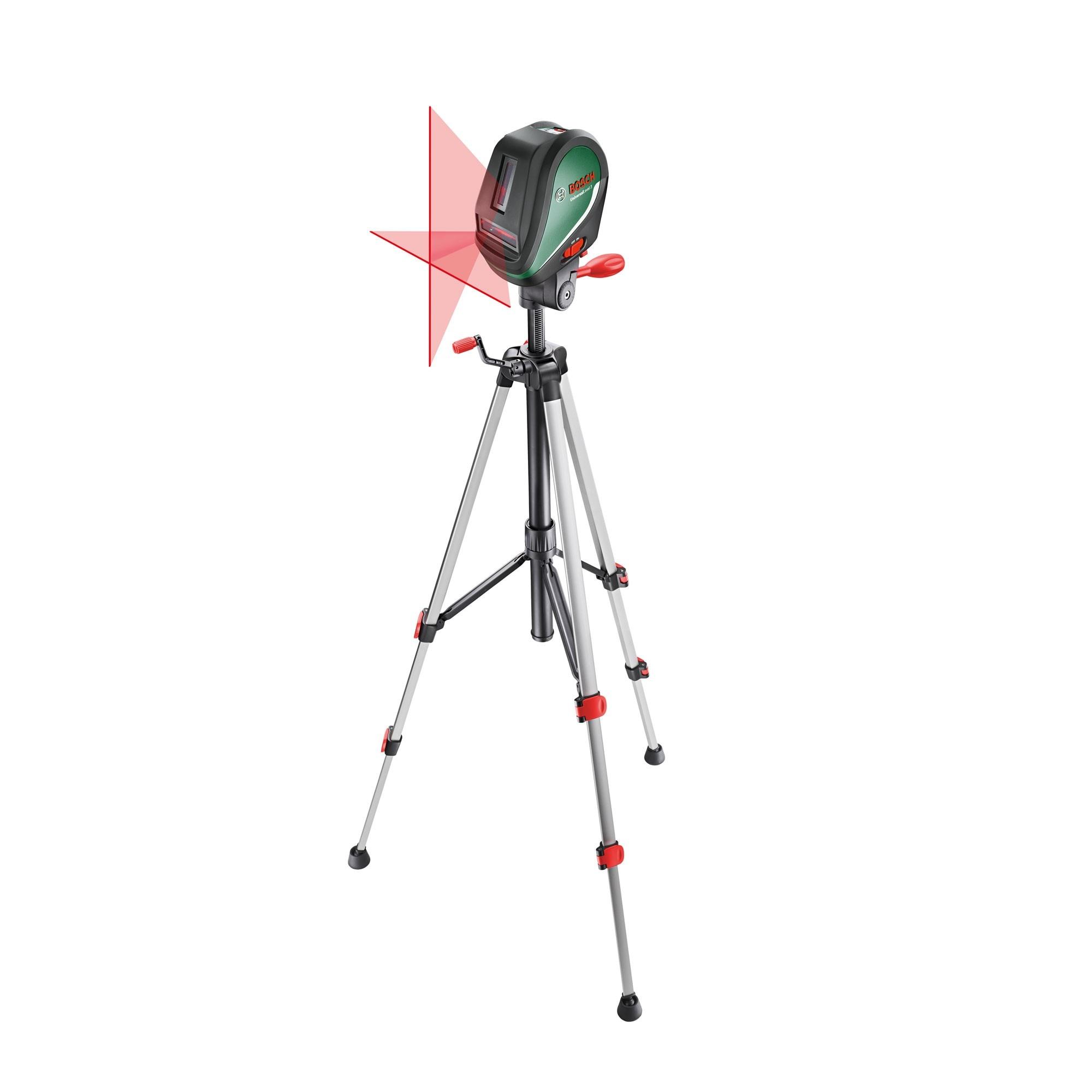Fotografie Nivela laser Bosch Universal Level 3, 10m, precizie 0,5 mm/m, contine stativ si husa protectie