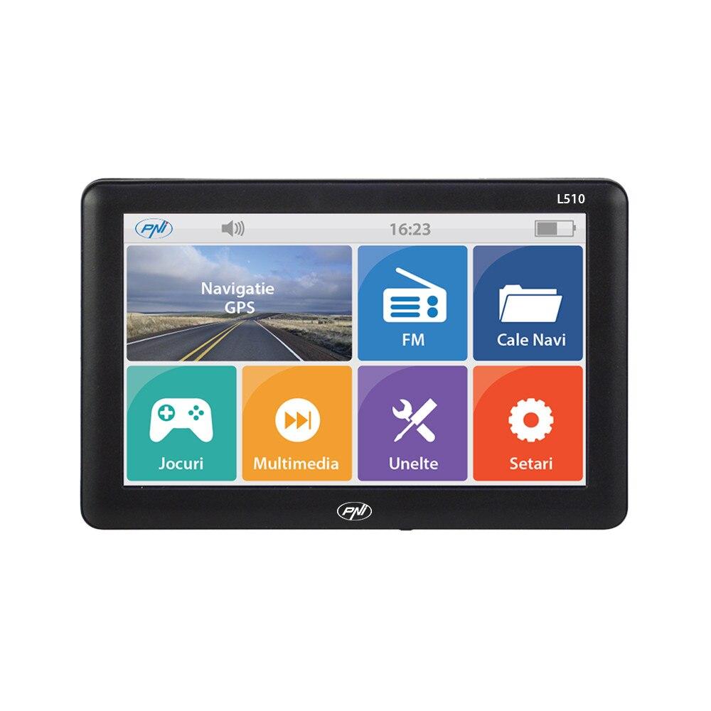 Fotografie Sistem de navigatie GPS PNI L510 ecran 5 inch, 800 MHz, 256M DDR3, 8GB memorie interna, FM transmitter, Fara harta