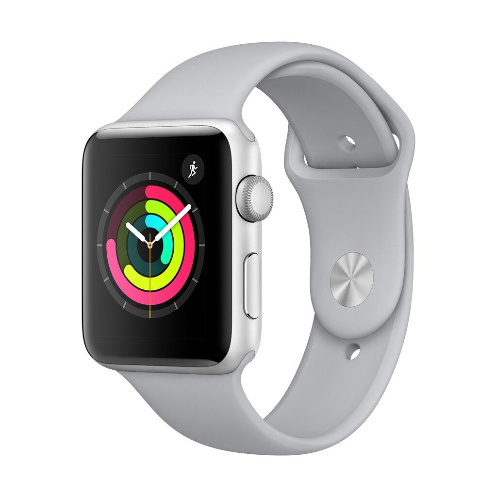 Fotografie Apple Watch 3, GPS, Carcasa Silver Aluminium 42mm, Fog Sport Band