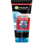 Почистващ гел за лице 3 in 1 Garnier Pure Active Intensive Charcoal за мазна кожа с несъвършенства, 150 мл