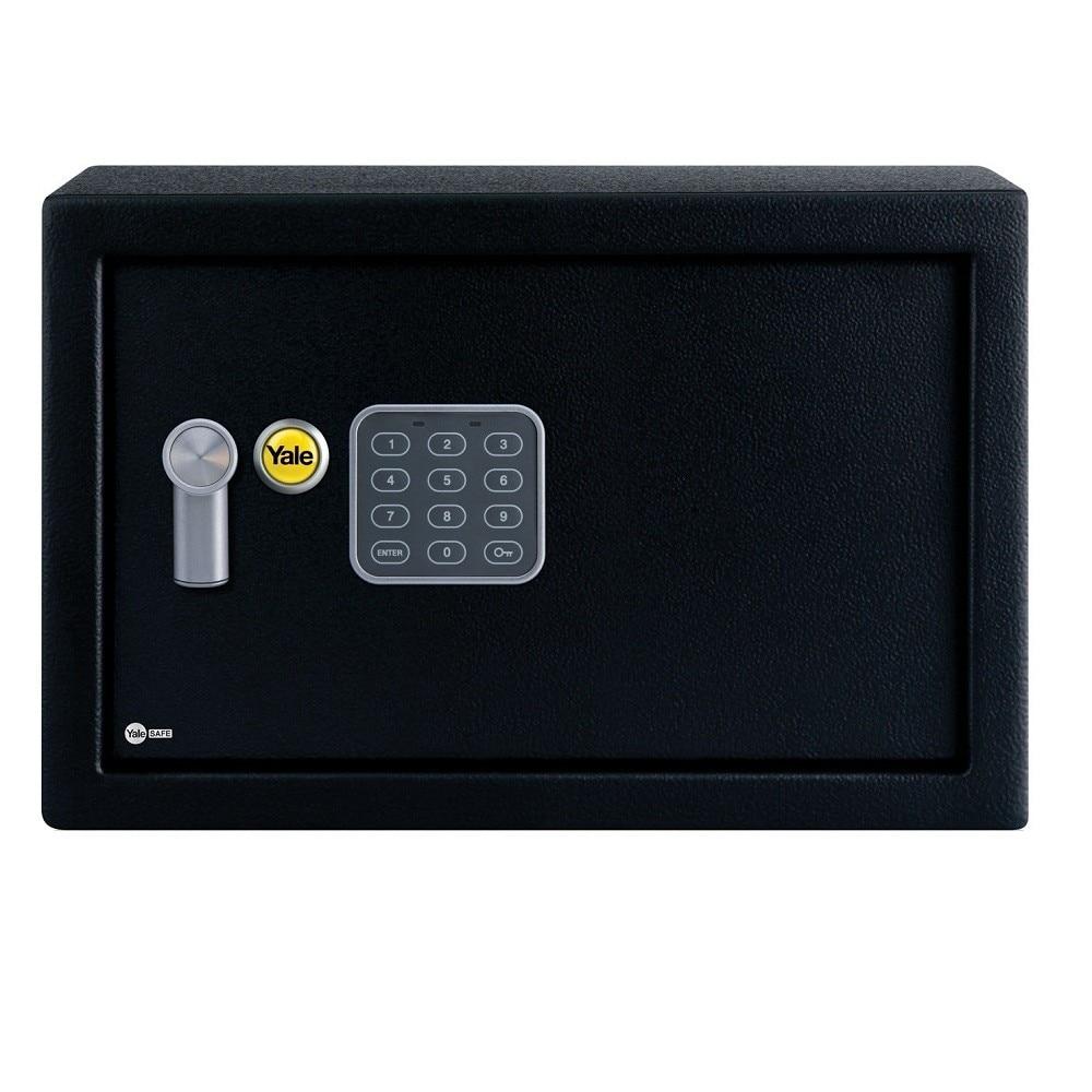 Fotografie Seif electronic standard compact cu cifru Yale YSV/200/DB1, 200x310x200 mm, otel, Negru