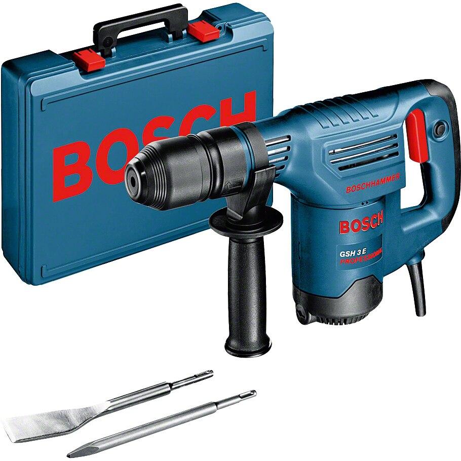 Fotografie Ciocan rotopercutor SDS-Plus Bosch Professional GSH 3 E, 650W, 2.6J, turatie reglabila, valiza plastic