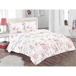 Спален комплект Kring Pastel, 100% памук, Цветен принт, Бял/Розов