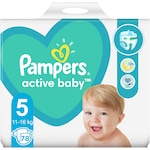 Пелени Pampers Active Baby Giant Pack+, Размер 5, 11-16 кг, 78 броя