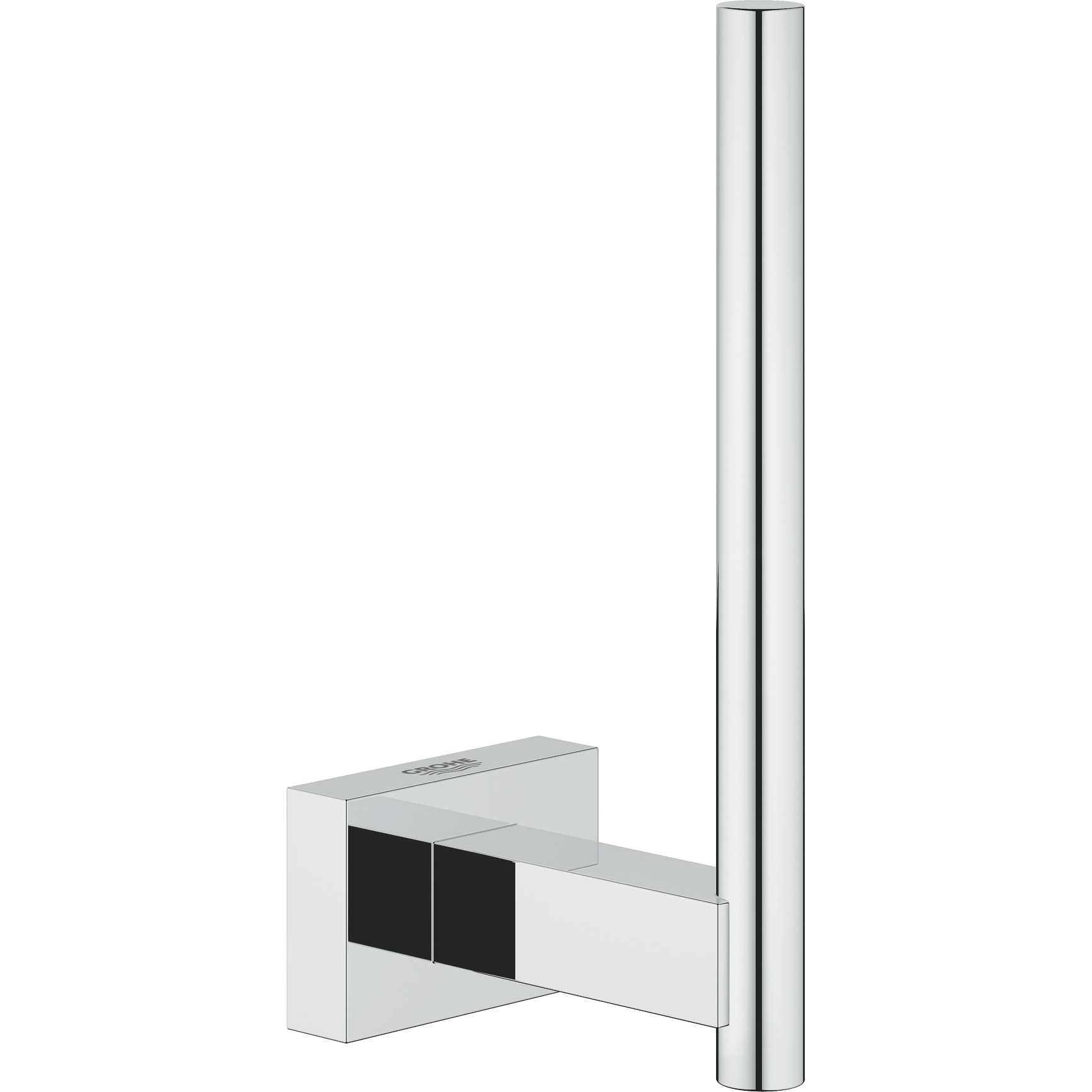 Fotografie Suport role hartie Grohe Essentials Cube, fixare ascunsa, Crom