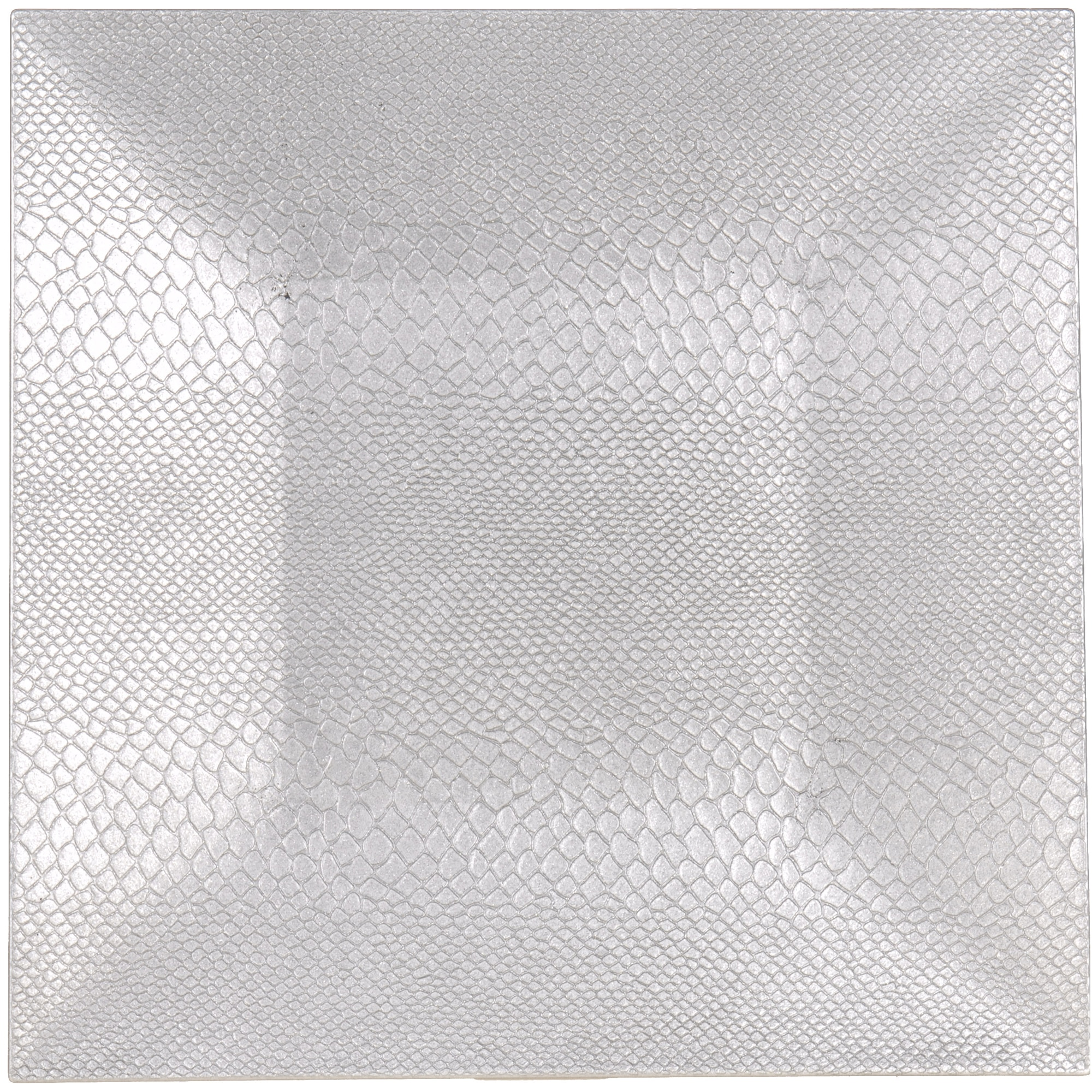Fotografie Farfurie plastic Excellence Houseware, 25 cm, Patrata, Argintiu