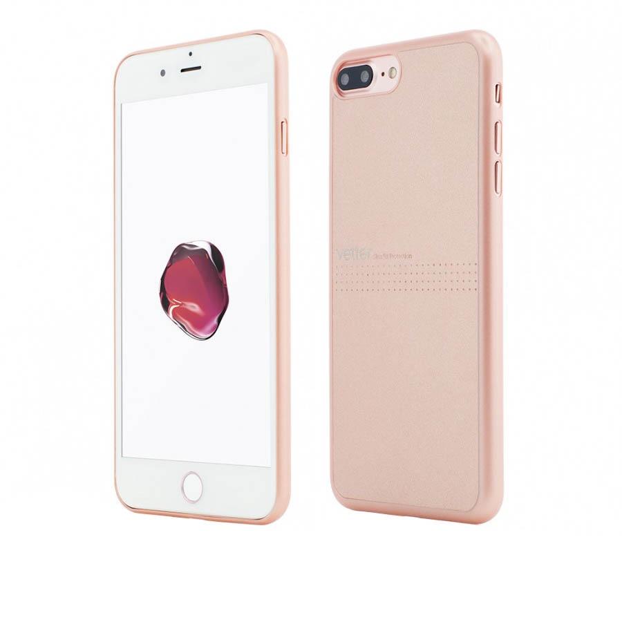 Fotografie Husa de protectie Vetter Clip-On Slim Classic pentru Apple iPhone 8 Plus / iPhone 7 Plus, Rose Gold