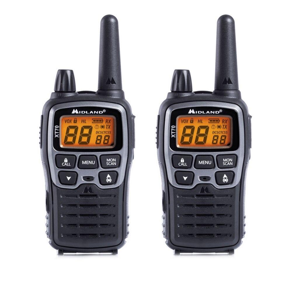 Fotografie Statie radio PMR/LPD portabila Midland XT70, 2 buc/set, Gri metalic