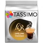 Capsule cafea, L'OR Tassimo Café Long Classic, intensitate 6, 16 bauturi x 120 ml, 16 capsule