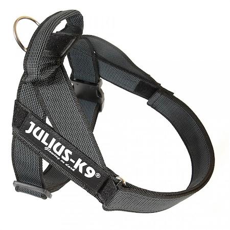 Нагръдник за кучета IDC Julius K9, 14-25 кг, Размер на гръдния кош 58-76 см, Черен