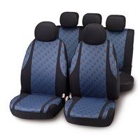 """Bottari """"Jaquard"""" univerzális autós üléshuzat készlet, 9 részes, Kék"""