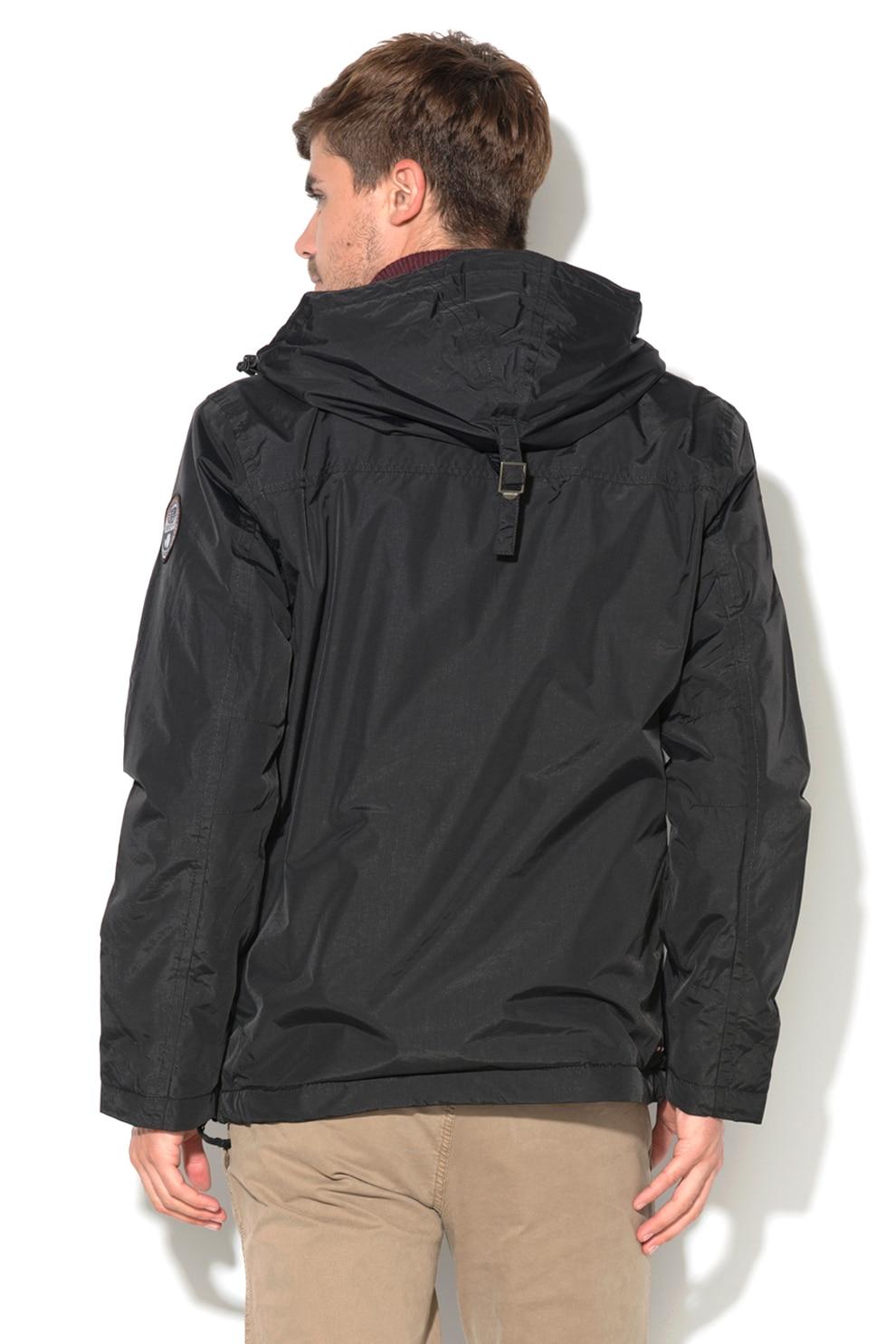 Napapijri, Rainforest bebújós kapucnis télikabát, Fekete, M