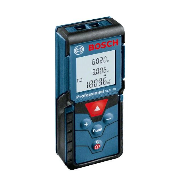 Fotografie Telemetru cu laser Bosch Professional GLM 40, 40 m, ± 1.5 mm precizie, 635 nm dioda laser, IP 54