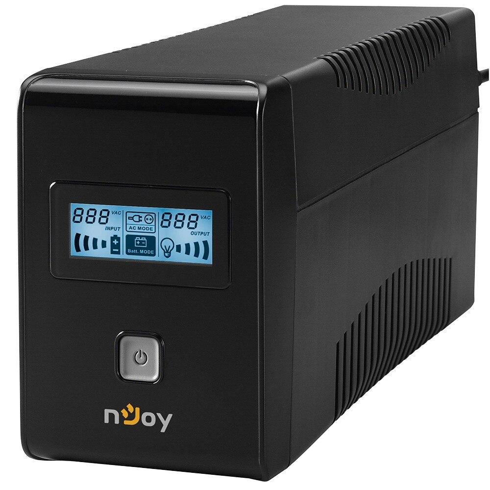 Fotografie UPS nJoy Isis 850L, 850VA/480W, LCD Display, Management, Repornire Automata, Reglaj Automat al Tensiunii