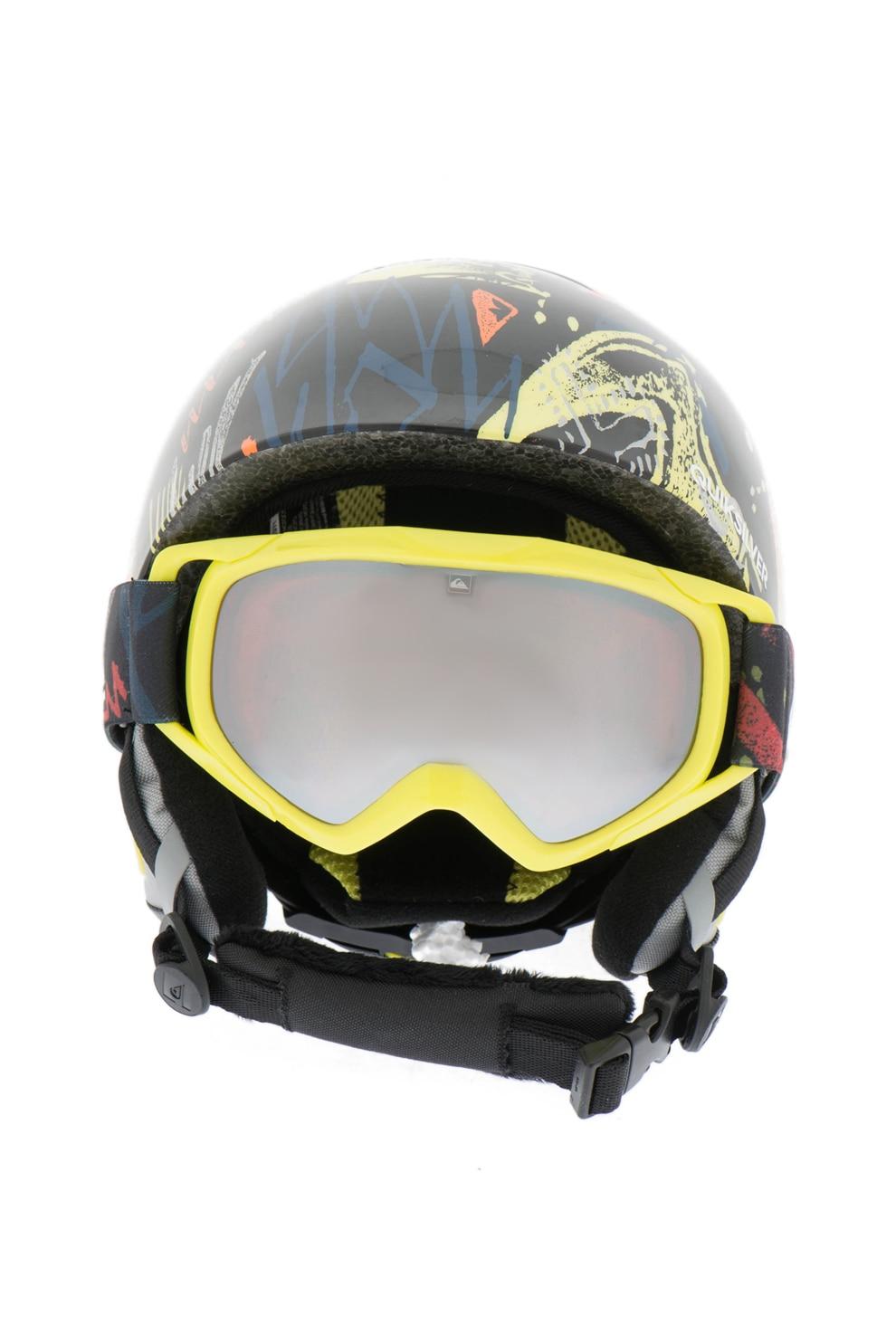 Fotografie QUIKSILVER, Casca cu ochelari de protectie, pentru sporturi de iarna The Game Pack, Negru/Galben, 52 EU