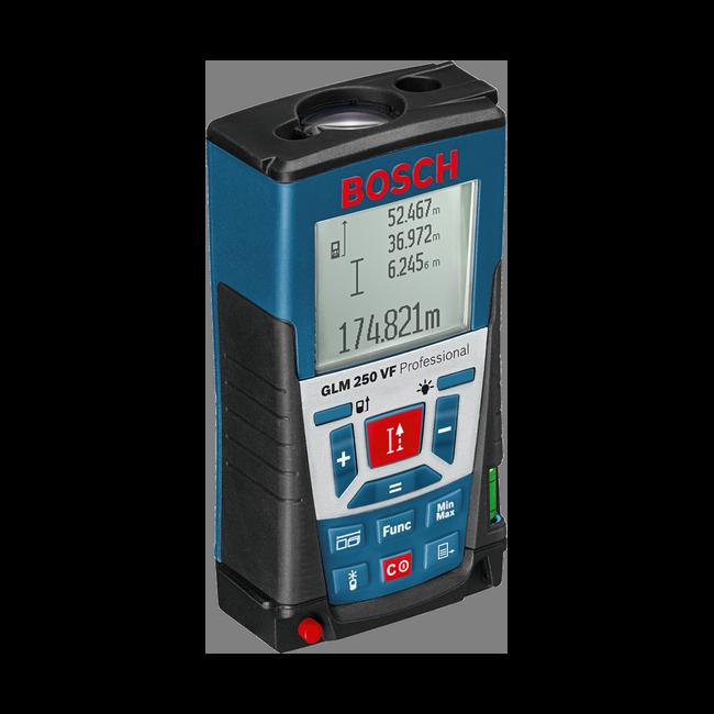 Fotografie Telemetru cu laser Bosch Professional GLM 250 VF, 250 m, precizie +/- 1 mm, 635 nm dioda laser