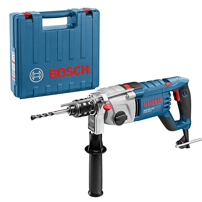 Fotografie Masina de gaurit cu percutie (bormasina) Bosch Professional GSB 162-2 RE, 1500 W, 1800 RPM + valiza profesionala