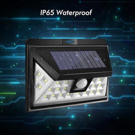 Lampa solara de perete cu senzor de miscare si lumina cu 24 leduri