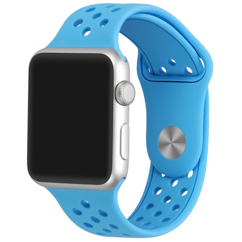Fotografie Curea iUni pentru Apple Watch 38 mm, Silicon Sport Blue