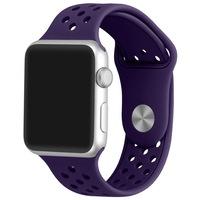 Каишка iUni за Apple Watch 38 мм, Silicon Sport Purple