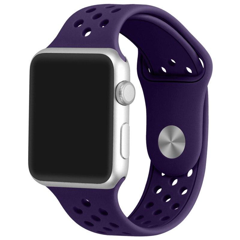 Fotografie Curea iUni pentru Apple Watch 42 mm, Silicon Sport Purple