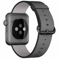 Каишка iUni за Apple Watch 38 мм, Woven Strap, Nylon, Electric Gray