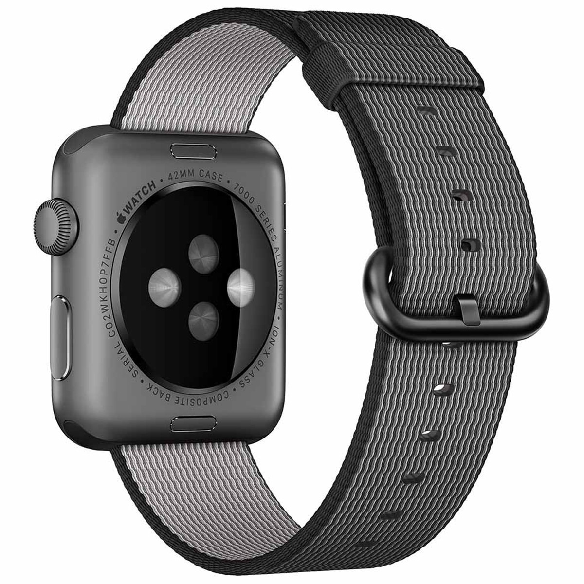 Fotografie Curea iUni pentru Apple Watch 38 mm, Woven Strap, Nylon, Electric Gray