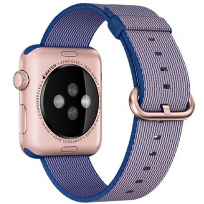 Fotografie Curea iUni pentru Apple Watch 42 mm, Woven Strap, Nylon, Electric Purple