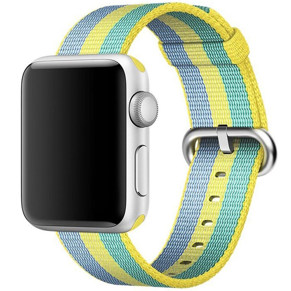 Fotografie Curea iUni pentru Apple Watch 42 mm, Woven Strap, Nylon, Pollen