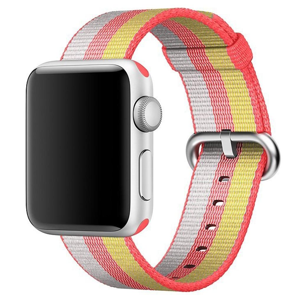 Fotografie Curea iUni pentru Apple Watch 38 mm, Woven Strap, Nylon, Rainbow