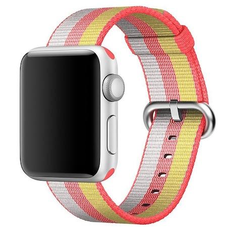 Каишка iUni за Apple Watch 38 мм, Woven Strap, Nylon, Rainbow