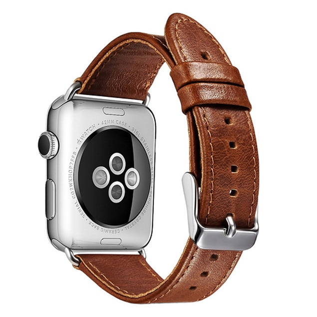 Fotografie Curea iUni pentru Apple Watch 38 mm, Leather Vintage Brown