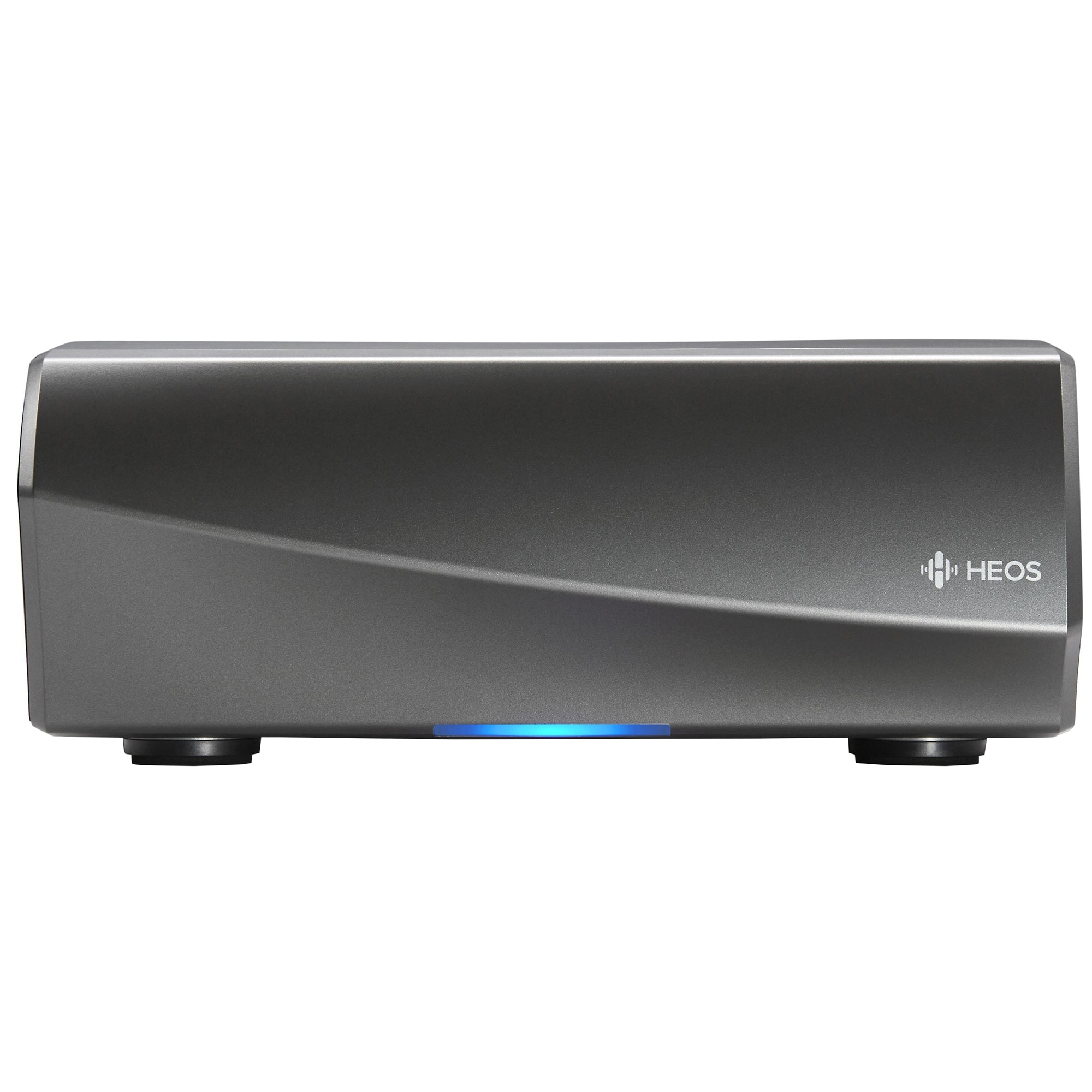 Fotografie Amplificator wireless Denon HEOS Amp HS2, Generatia 2, 2 x 100W, Wi-Fi, Bluetooth, Streaming online, Multiroom, USB, Argintiu