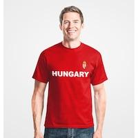 Hungary feliratos piros férfi szurkolói póló - L-es méret
