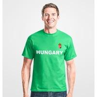 Hungary feliratos zöld, férfi szurkolói póló - L-es méret