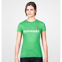 Hungary feliratos zöld, női szurkolói póló - XXL-es méret