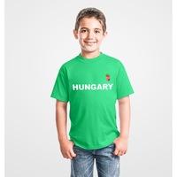 Hungary feliratos zöld, gyermek szurkolói póló - L-es méret