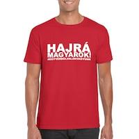 Hajrá magyarok! feliratos piros, férfi szurkolói póló - S-es méret