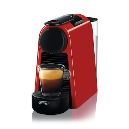 DeLonghi Nespresso® EN85R Essenza kapszulás kávéfőző, 1450W, 19 bar, 0.6 literes víztartály, Piros