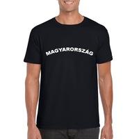 Magyarország feliratos fekete, unisex szurkolói póló - S-es méret