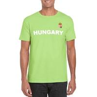 Hungary feliratos világoszöld, unisex szurkolói póló - L-es méret
