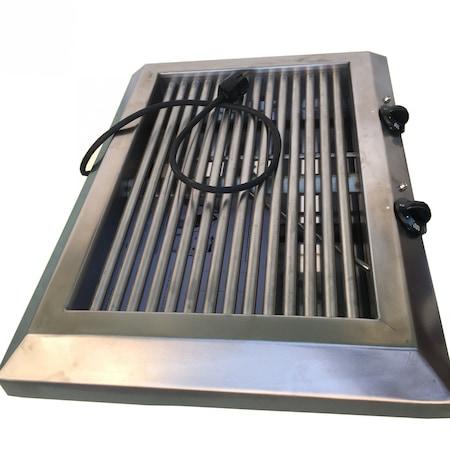 Професионална електрическа скара Santov, неръждаема-INOX, 2600W