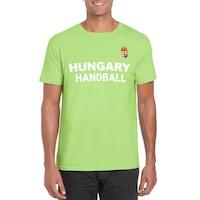 Hungary Handball feliratos világoszöld, unisex szurkolói póló - S-es méret
