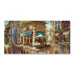 Картинa Канава Artfoyer - Кафето на улицата, 50 x 100 см