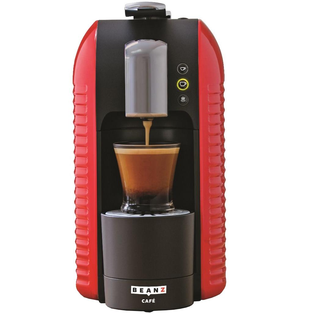Fotografie Espressor cu capsule BeanZ Café Wave Red 303647, 1455W, 1l, 19 bari,compatibil Espressto, Mr&Mrs. Mill, Negru/Rosu